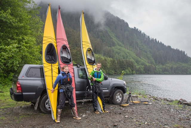 The Maiden voyage for the three TRAK kayaks that were donated to SCS. Photo: Adam Andis